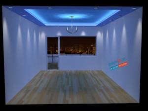 Опънат таван мат взаимодействие със светлина