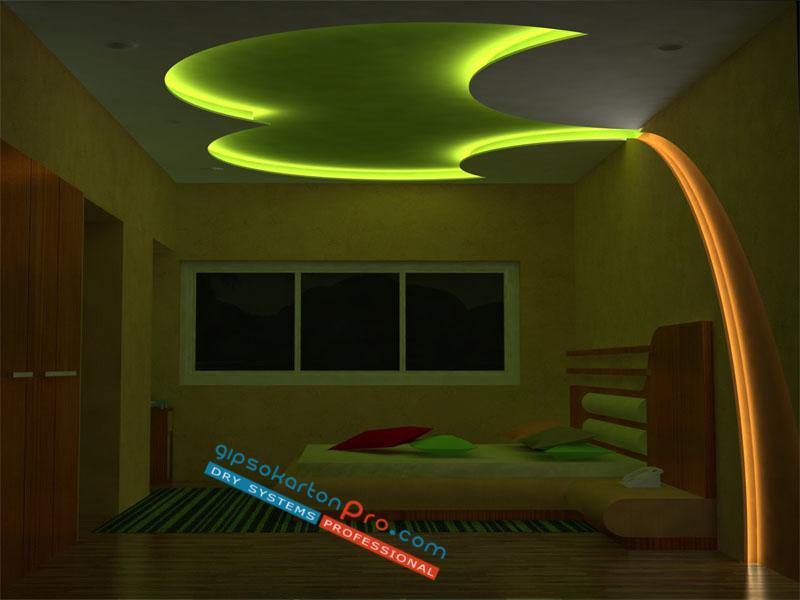 Окачени тавани за спалня в Бургас Варна и София.Цени за доставка и монтаж.