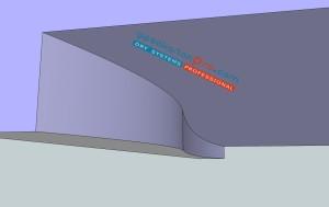 Художествени окачени тавани .Елемент овален вертикален преход към второ ниво от гипсокартон.