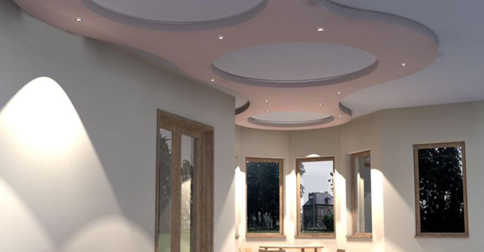 Подвесные потолки в Болгарии Бургас . Окачени тавани - 3д визуализации .Интериорен проект за хол.