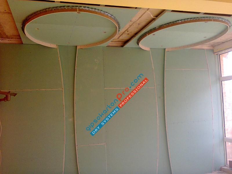 Монтаж на окачени тавани в обществени заведения - сладкарница Наслада гр.Проморско 2014