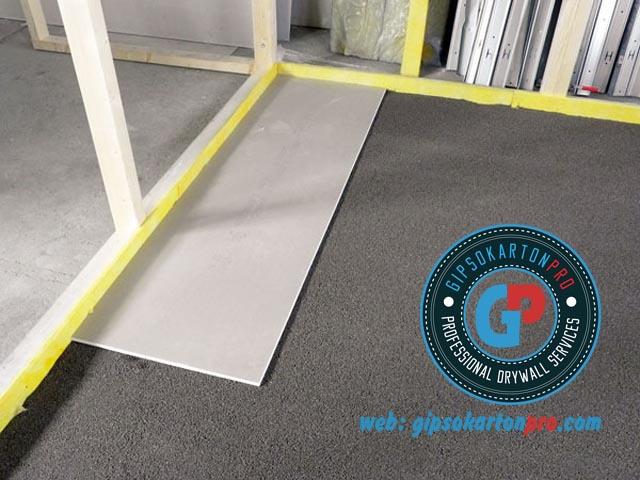 Монтаж на сухи подове във фирмен офис в град Бургас