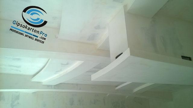 Шпакловка на окачен таван от гипсокартон