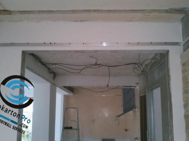 Монтаж на профили за опънат таван