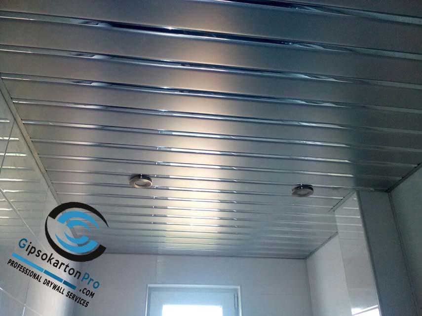 Алуминиев перфориран окачен таван за баня