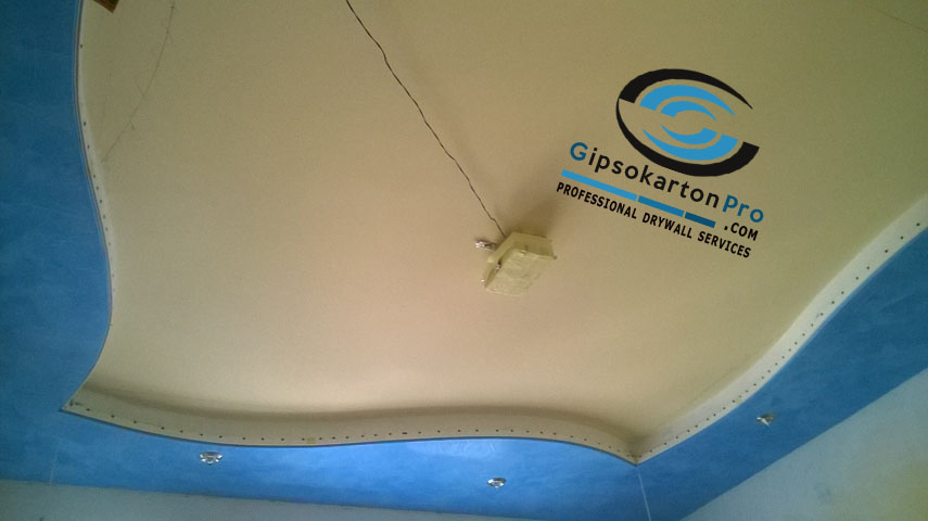Монтаж на опънат таван по гипсокартон Варна