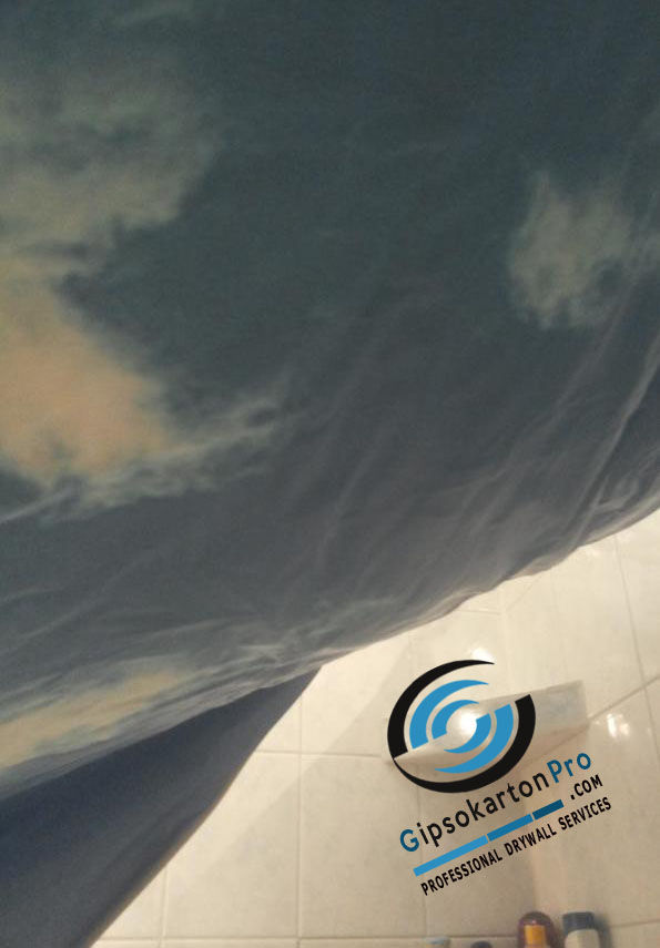 Бъргас Опънати тавани с печат небе
