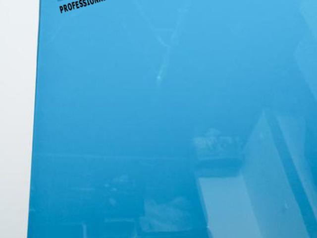 Светло син опънат таван гланц