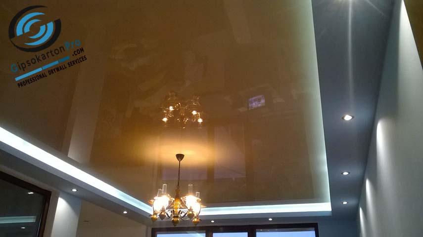 Опънати тавани цвят Ванилия в Царево