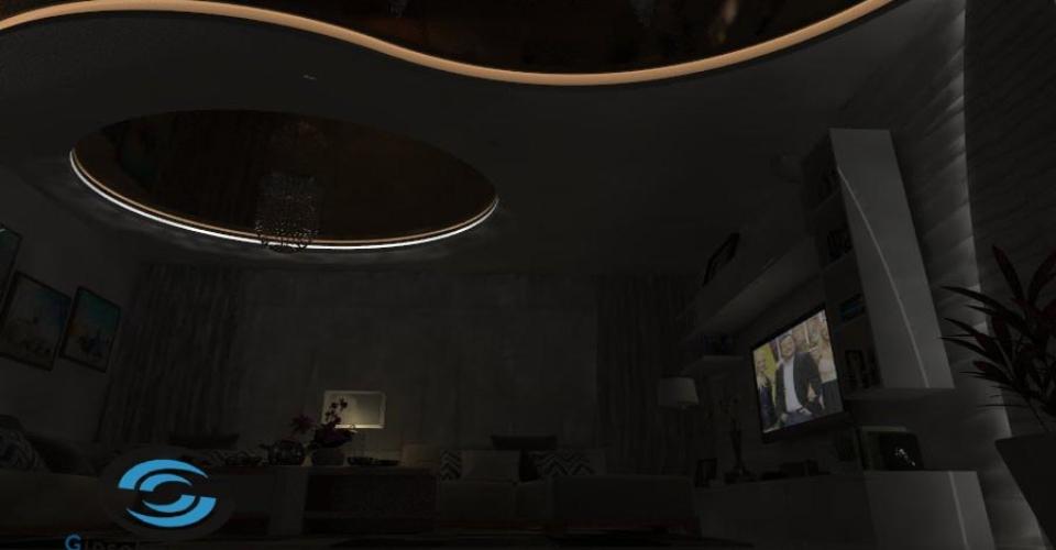 Окачени тавани със скрито осветление Варна 2017