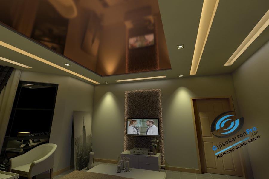 Окачен таван подходящ за спалня