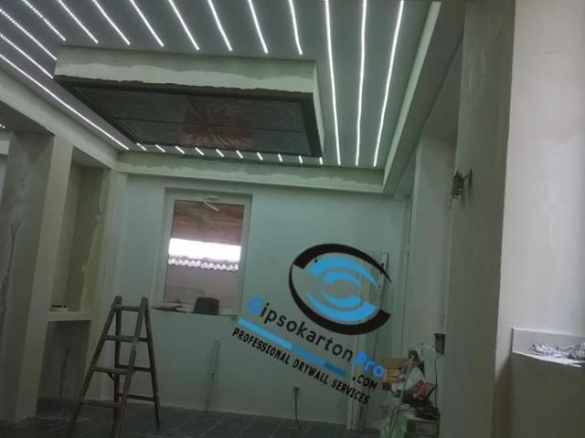 Лед осветление за опънат таван