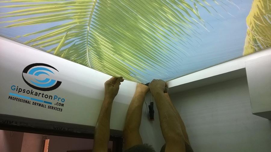Монтаж на опънати тавани за баня в Бургас