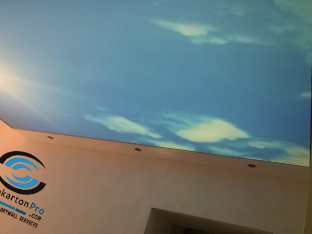 Опънат таван в коридор Варна ж.к. Чайка