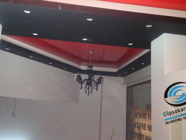 Опънати тавани в магазин Бургас