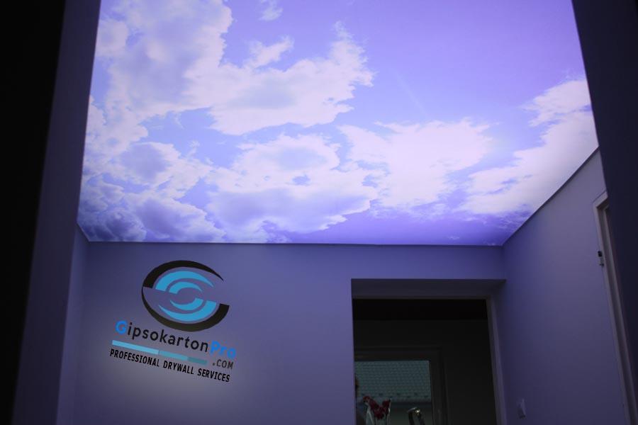 Варна опънат таван светещо небе с облаци