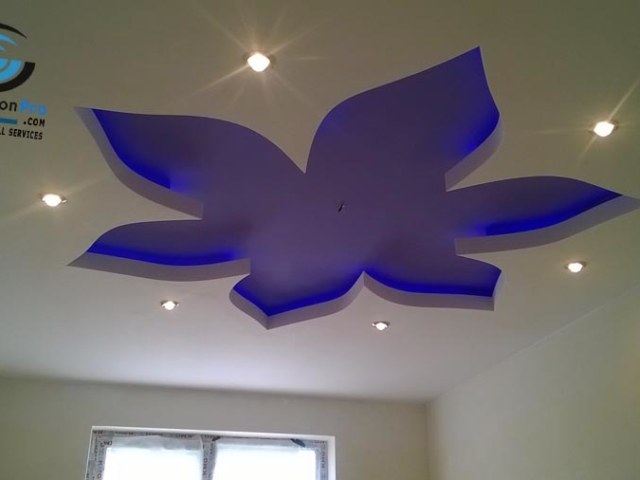 Окачени тавани с фигури за детска стая .