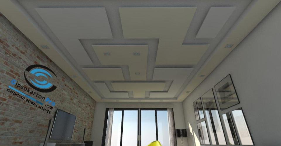 Модел за окачен таван Тетрис
