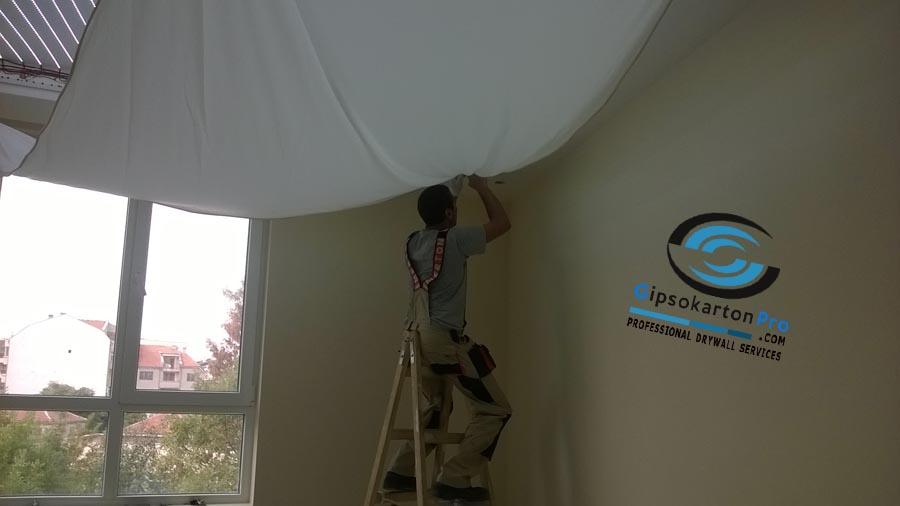 Опънати тавани с ЛЕД ленти