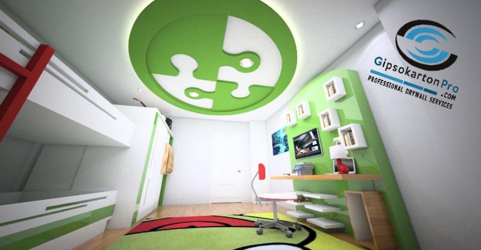 Окачени тавани за детска стая Проект и реализация в Бургас