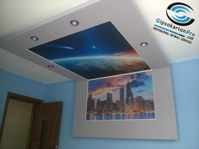 Опънати тавани с фотопечат Чикаго