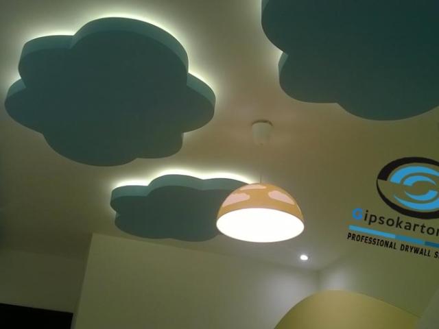 Идея и реализация на окачен таван в детска стая