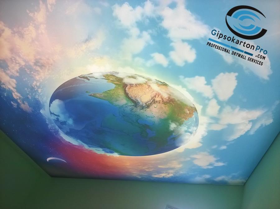 Спалня с опънат таван и ЛЕД осветление в Приморско