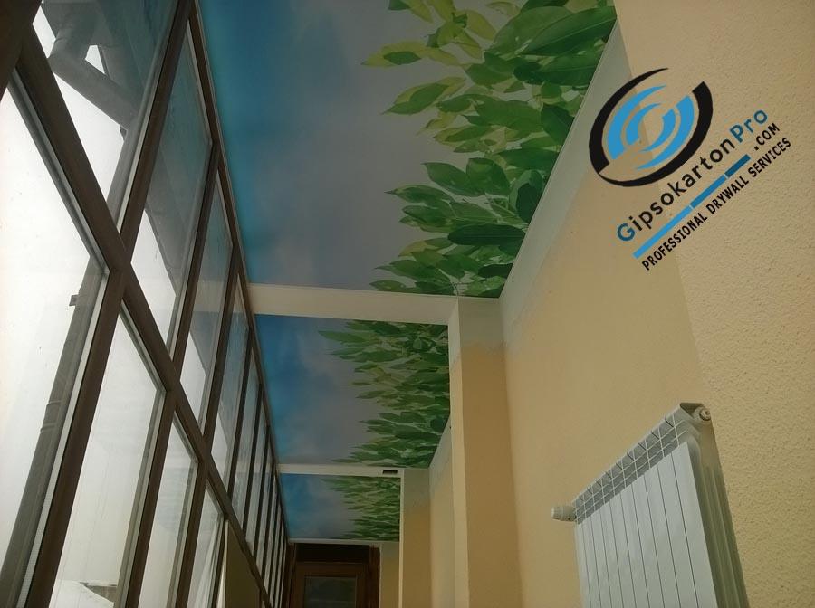 Опънати тавани в коридор Фотопечат листа