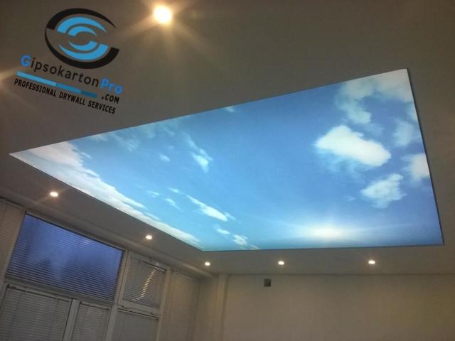 Опънати тавани за офис Бургас