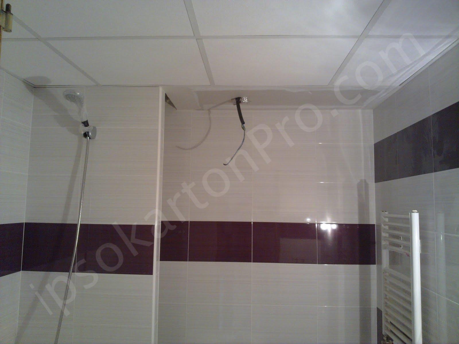 AMF(АМФ) растерен окачен таван в баня със влагоусточиви пана.