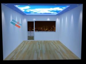 Полупрозрачни опънати тавани с фотопечат .Взаимодействие със светлина.