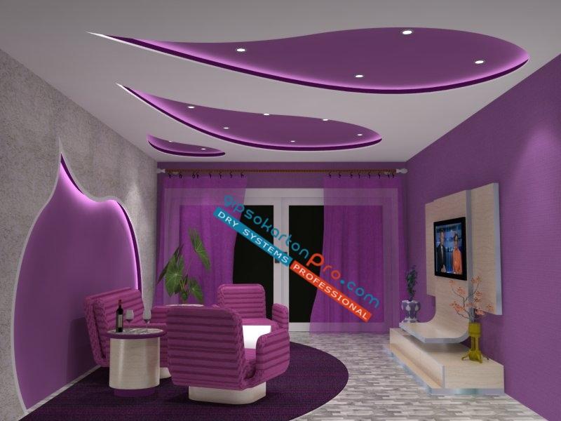 Окачени тавани Бургас .Триизмерно проектиране на интериорни окачени и опънати тавани.