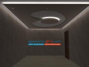 Декоративни окачени тавани .Форми от гипсокартон с всякаква гиометрия . Гипсокартон Про Бургас Варна и София.