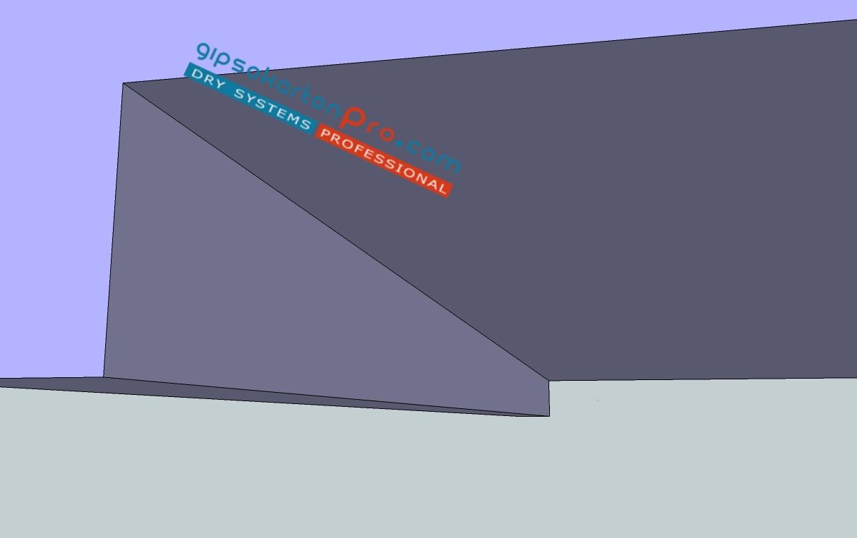 Окачени тавани с фигури от гипсокартон . Интериорни ефекти . Скрито осветление . Ниши от гипсокартон .