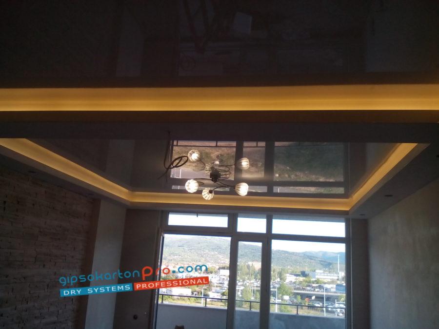 Гланцов опънат таван в Бургас .Изглед 3