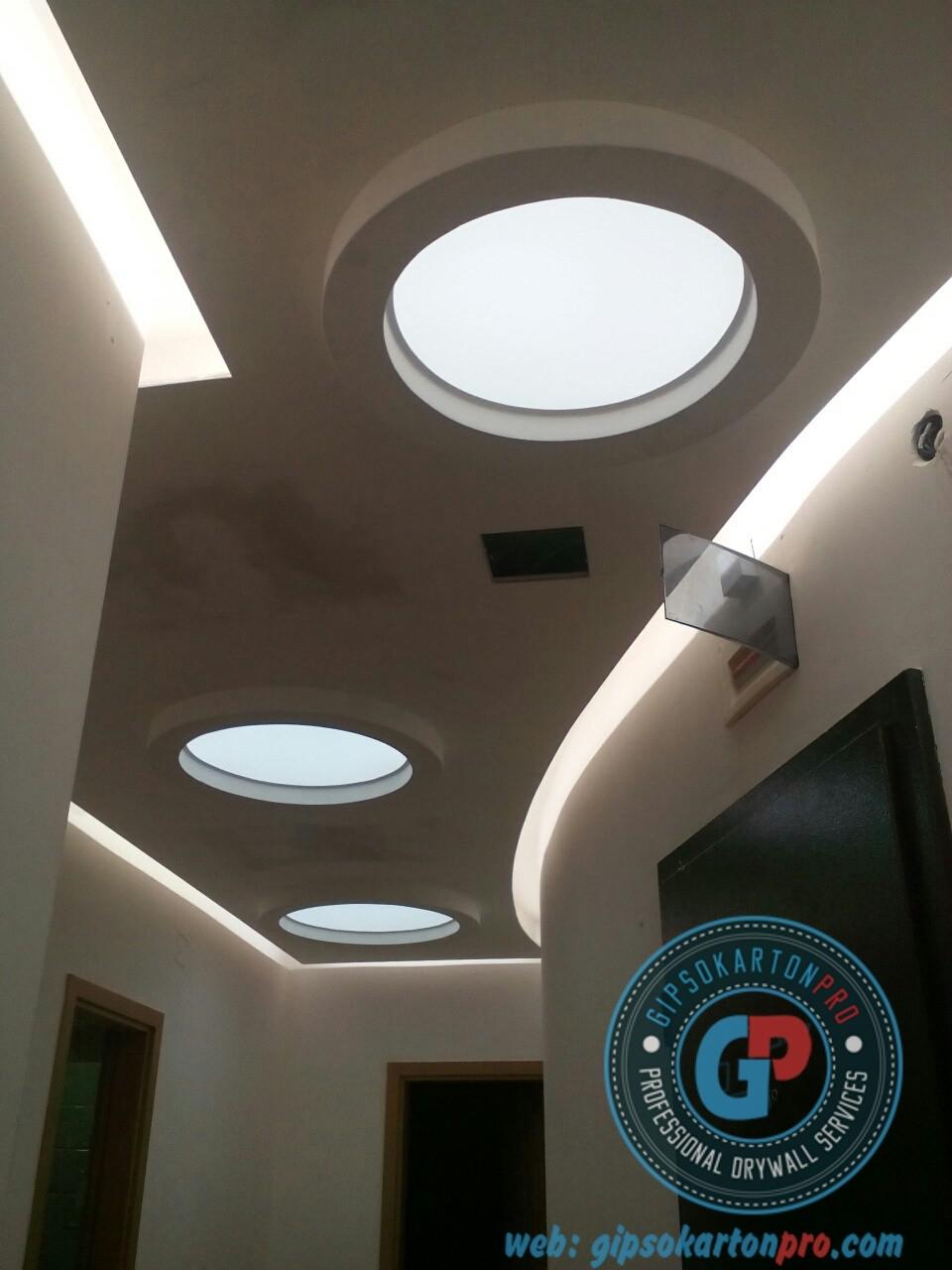 Лед осветление за опънати тавани във Варна Бургас и София.