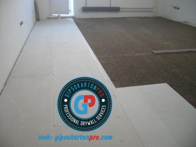 Сухи подове в София Монтаж на сухи подове по системите на Кнауф