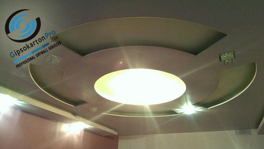 Окачени тавани в София . Светещ кръг