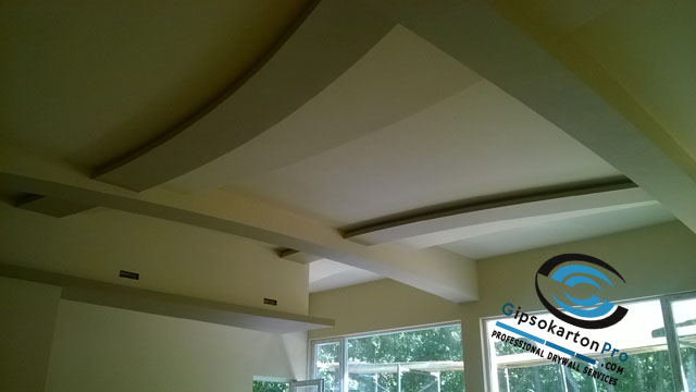 Бургас Отманли - окачен таван от гипсокартон