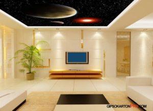 Дизайн на опънати тавани 3д визуализация