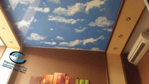 Опънат таван с небе