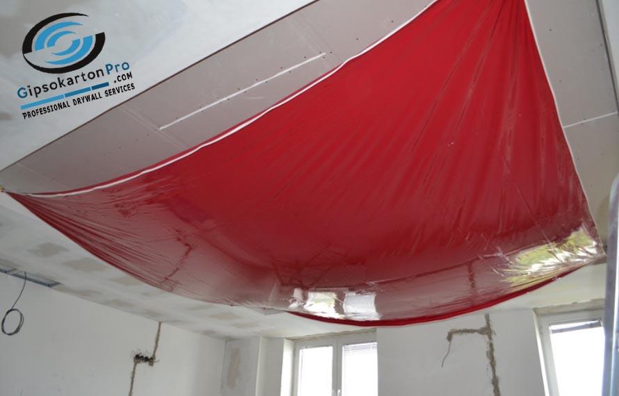 Монтаж на опънат таван в спалня Аспарухово гр Варна