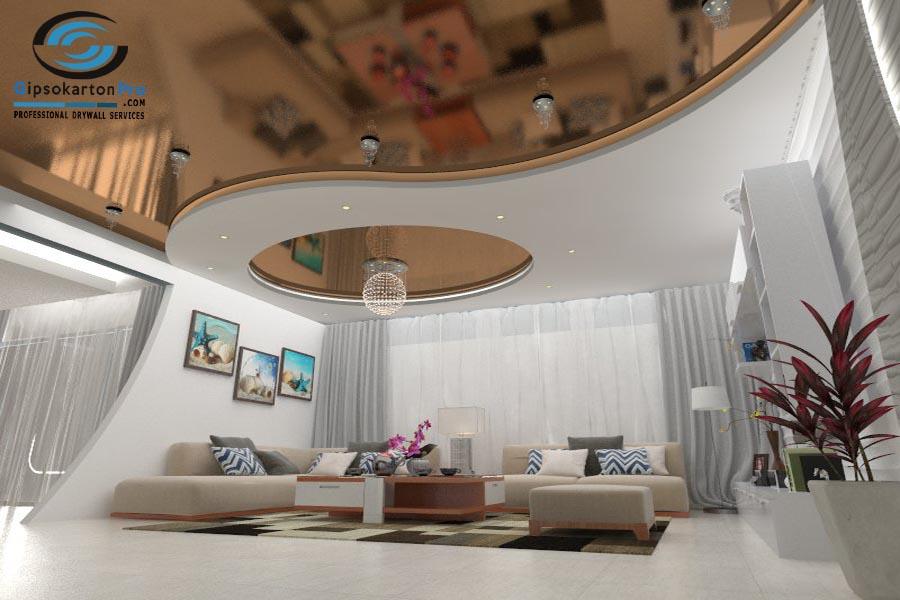 Окачени тавани със скрито осветление Бургас