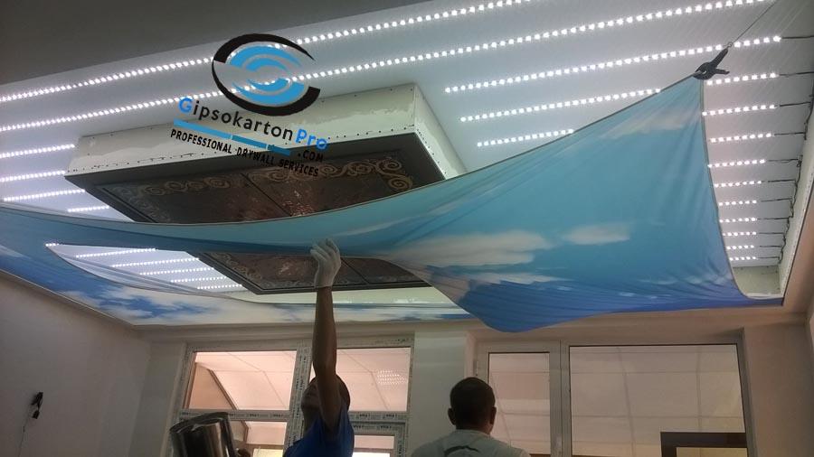 Монтаж на опънати тавани в Бургас 2017 г