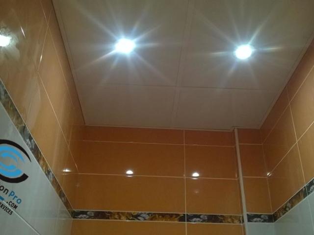 ПВЦ окачени тавани за баня