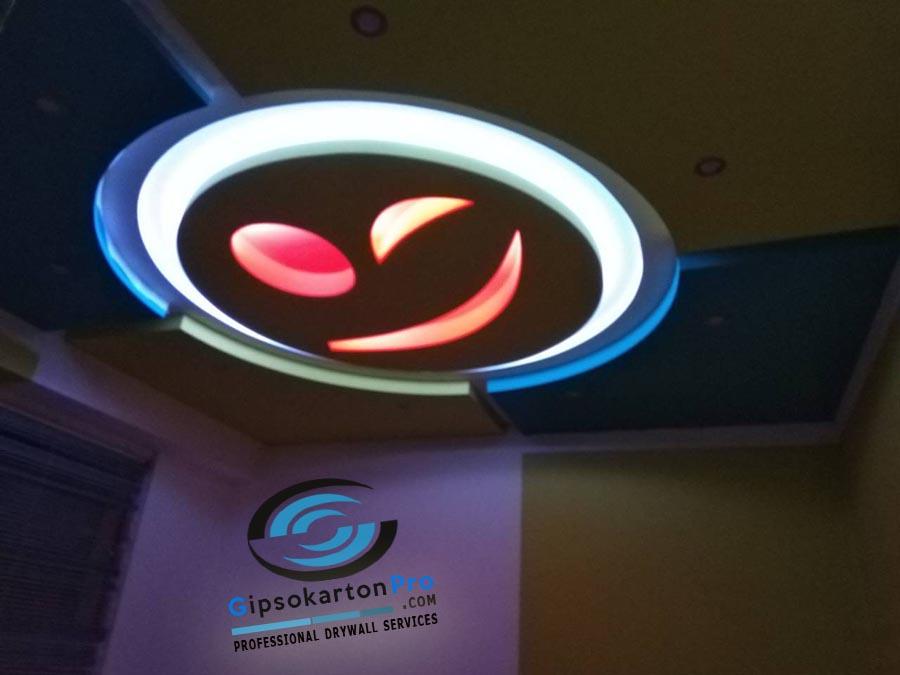 Окачен таван за детска стая Емотикон