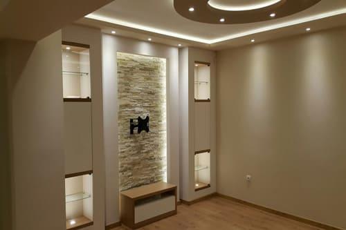 Декоративни окачени тавани фигури от гипсокартон
