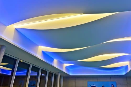 Гипсокартон окачени овални тавани