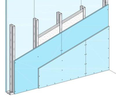 Двуслойна преградна стена от гипсокартон