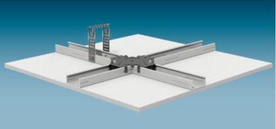 Окачен таван от гипсокартон с конструкция на едно ниво